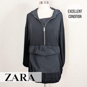 Zara •  Black Kangaroo Pullover [Tops]